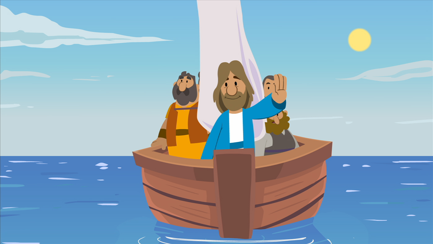 Jesus calming the storm on Family Bible Films